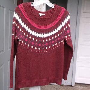 Halogen wine Snow Flack Sweater